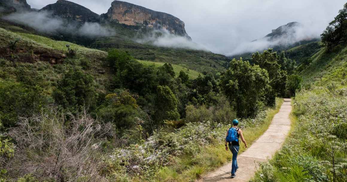 hiking trail in the drakensburg