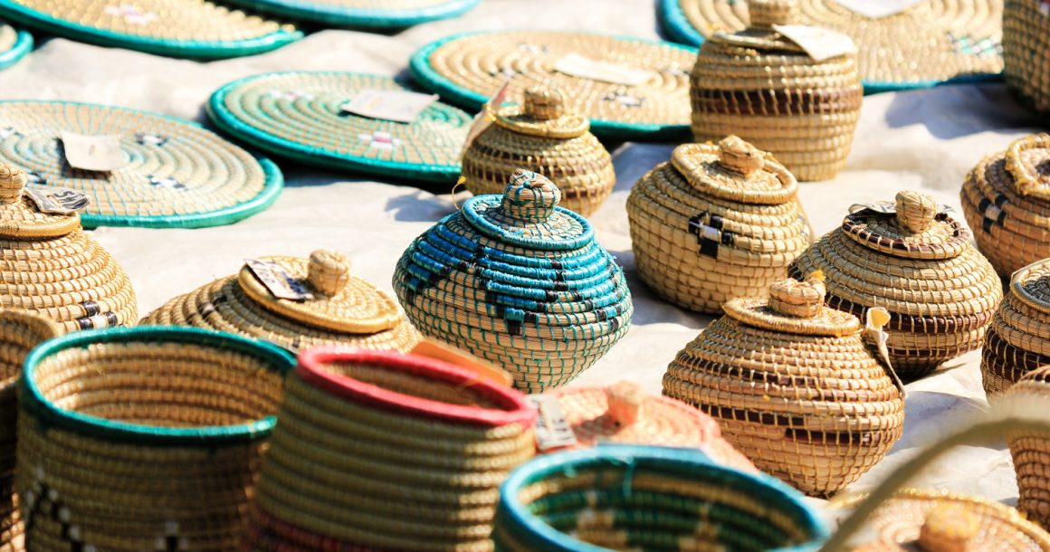 traditional weaved baskets
